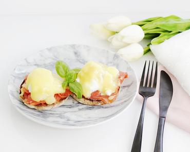 Eggs Benedict mit Lachs / Eggs Atlantic & Anleitung für pochiertes Ei