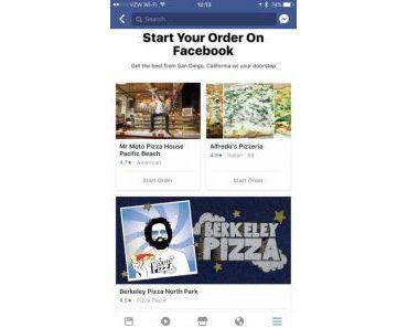 Facebook startet Bestellservice