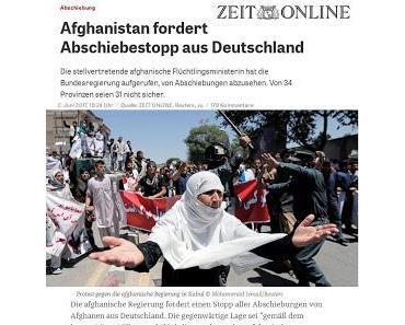Afghanische Vize-Ministerin fordert Abschiebestopp statt Aufnahmestopp