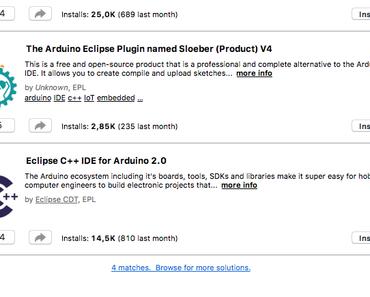 Eclipse IDE für die Arduino C++ Entwicklung