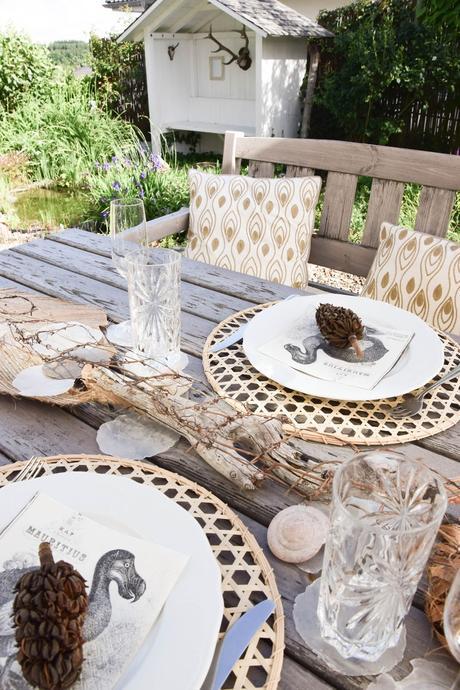 Nat rliche tischdeko f r entspannte sommertage easy und - Tischdeko strand ...