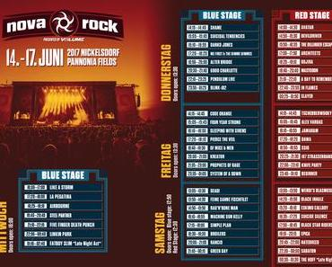 Nova Rock 2017: Das Line Up