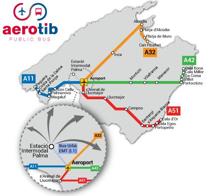 Aerotib bindet jetzt auch Cala d'Or an