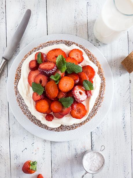 Rezept für eine einfache Erdbeer-Mascarpone Torte