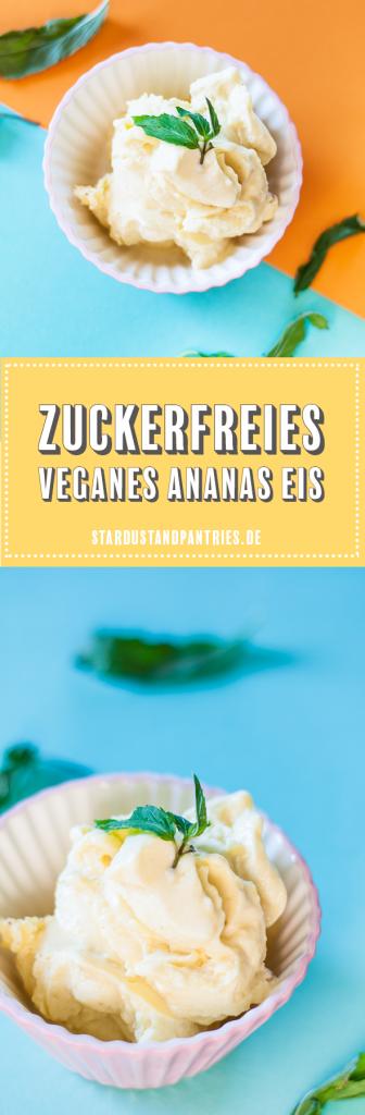 Vegan Monday – veganes Ananas Eis Rezept ohne Eismaschine