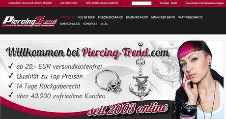 Mehr als nur Piercings - Wir testen das Angebot von PiercingTrend.com (Werbung)