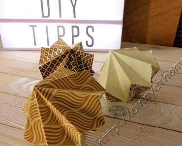 Diamanten aus Papier sind ein tolle Deko #DIY #Anleitung #Falten