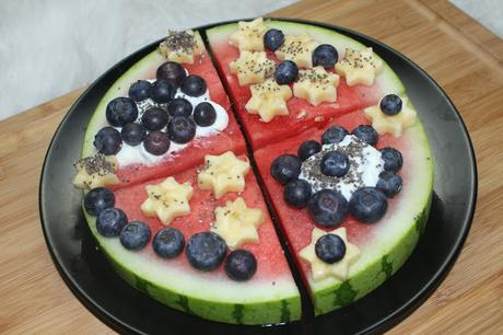 vegan sugarfree watermelon pizza rezept. Black Bedroom Furniture Sets. Home Design Ideas