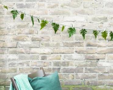 DIY Lichterkette & florale Girlande für Frosch