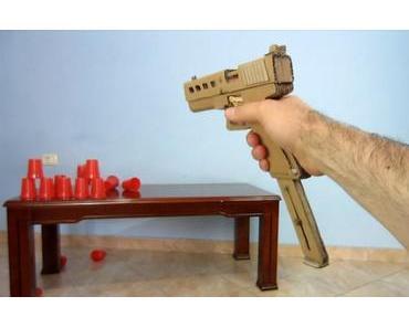DIY: Pistole aus Pappe basteln