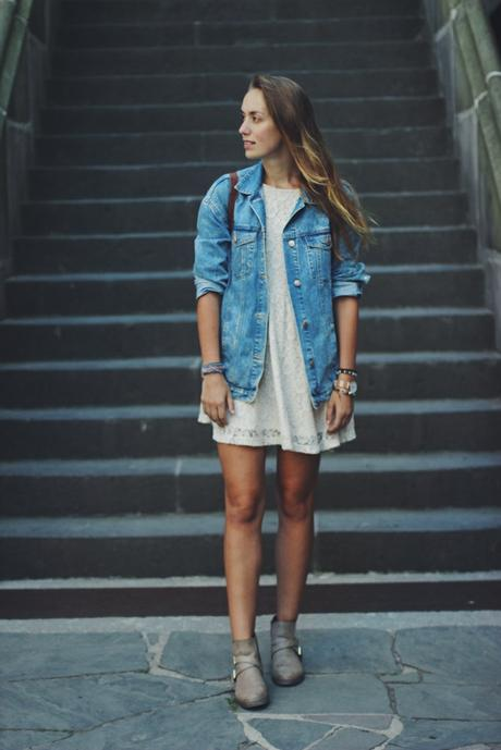OOTD: White Dress + Denim