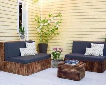 Meine neuen DIY Terrassenmöbel - schön, praktisch und selbstgemacht!