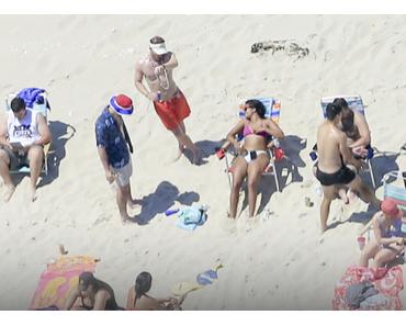 Polit-Trottel des Jahres: Christie relaxed auf von ihm gesperrten Strand