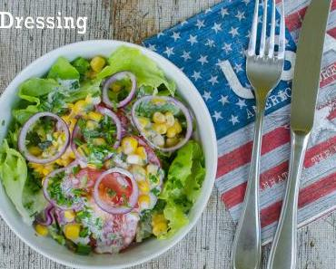Salat mit Buttermilch Ranch Dressing