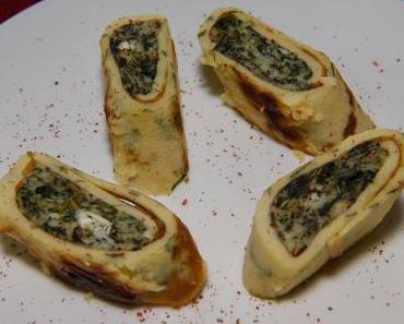 Armande's Spinatrollen mit Käsefüllung (ovo-lacto-vegetarisch)