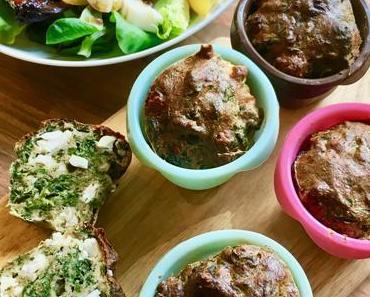 Spinat-Feta-Muffins (aus der Heißluftfritteuse)