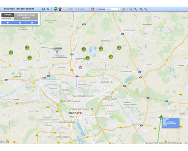 Fluglärm Visualisierung in Hannover und Frankfurt