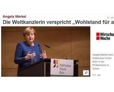 Erschreckend ungebildet: Weltkanzlerin Merkel und ihre Jubelperser