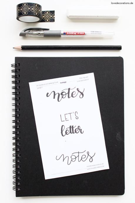 DIY Notizbücher mit Lettering-Cover | DIY handlettered Notebook Cover