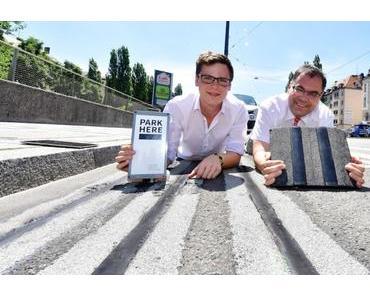 Parken in München: ParkHere Sensoren zeigen freie Parkplätze