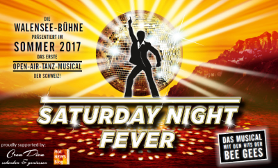 Walensee-Bühne mit dem Musical Saturday Night Fever