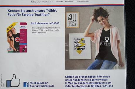""" Avery Zweckform "" T- Shirt Folie"