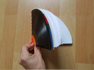 Vinyl Notizbuch basteln