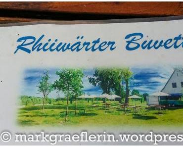 Blauels Rhiiwärter Buvette: Freitagsfisch und alkoholfreier Cocktail in Neuenburg am Rhein