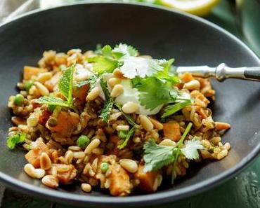 Linsen-Reis-Pilaw mit Süßkartoffel