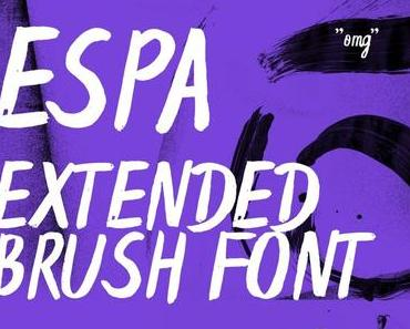 New Typeface – Espa Extended Brush Font
