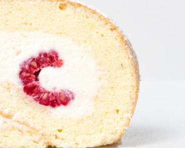 raspberry cheesecake rolle –Himbeer-Cheesecake-Biskuitrolle