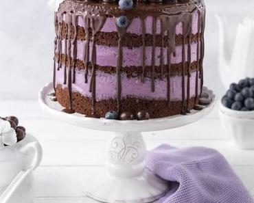 Blaubeer-Schoko-Layer Cake