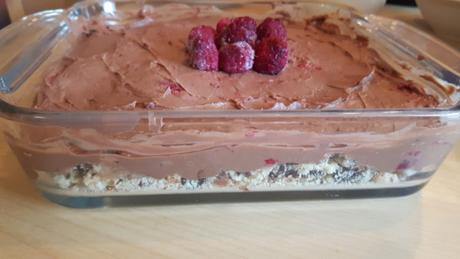 Low Carb Schoko Nugat Kuchen Mit Himbeeren