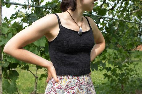 Einfaches Crop Top Stricken