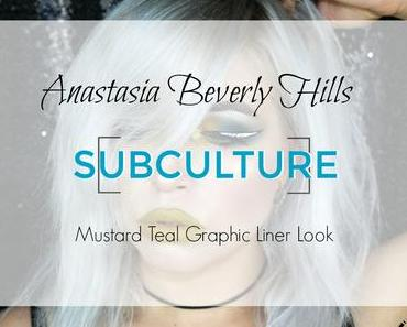 |Look| Anastasia Beverly Hills Subculture Palette Mustard Teal Graphic Liner