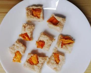 White Chocolate Bites mit Mangostücken