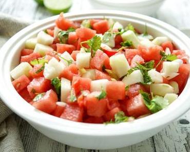 Wassermelonensalat mit Kohlrabi