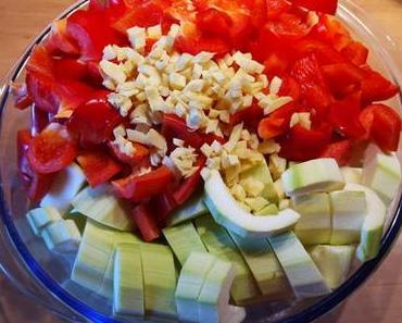 Gemüse Fleisch Pfanne