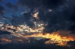 Gefummel und der Abendhimmel