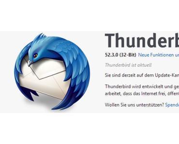 Update 52.3 beseitigt Sicherheitslücken in Thunderbird