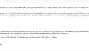 Fake Rechnung Ebay- Post Herrn Eulenhaus