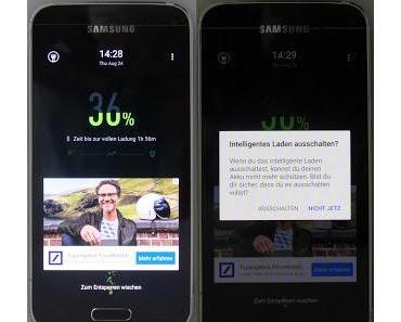 Werbung im Sperrbildschirm (Lock-Screen) bei Samsung Android Smartphone