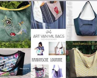 5 superschöne 'Louanne' Taschen – genäht von meinem Probenähteam – ich bin begeistert!