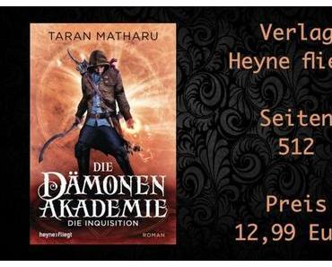 Rezension | Die Dämonenakademie 2 - Die Inquisition von Taran Matharu