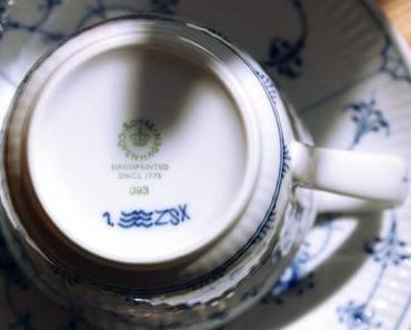 Ein Klassiker in Blau: Musselmalet gerippt von Royal Copenhagen