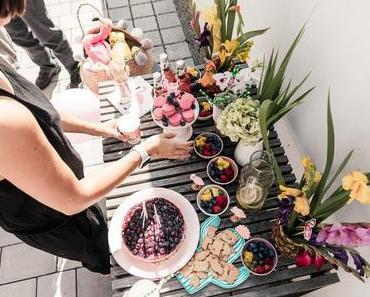 Backen ohne Backrohr aber mit Gefriertruhe oder No bake Heidelbeer-Mascarpone-Torte mit Cantucciniboden