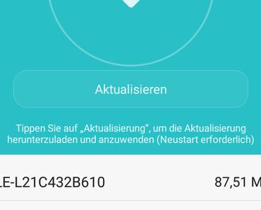 Update ALE-L21C432B610 für das Huawei P8 lite