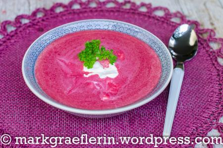 Samstagseintopf: Rote Bete Suppe mit Ingwer
