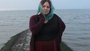 Outfit: Herbstmädchen Meer Blick hinter Kulissen eines Outfitshootings