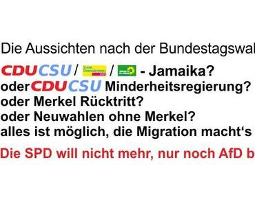 Der Wahlausgang der Bundestagswahl 2017, keine Veränderung für Menschen die Veränderung wollten
